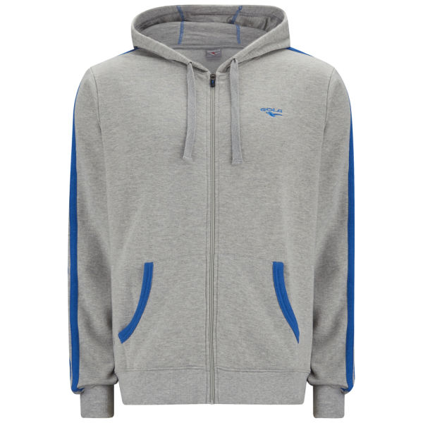 Gola Men's Milford Full Zip Hoody - Grey Marl/Cobalt Blue for 25€