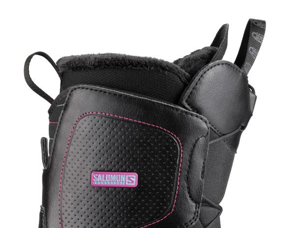 Boots woman Salomon Snowboard Pearl Black Woman 13/14 for 107€