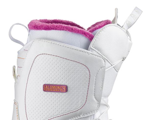 Boots woman Salomon Snowboard Pearl White Woman 13/14 for 107€