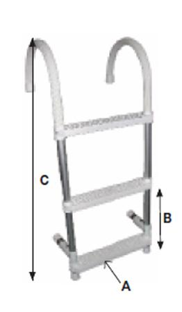 Ladders Waveinn Ladder With Anti-slip Coating for 37€